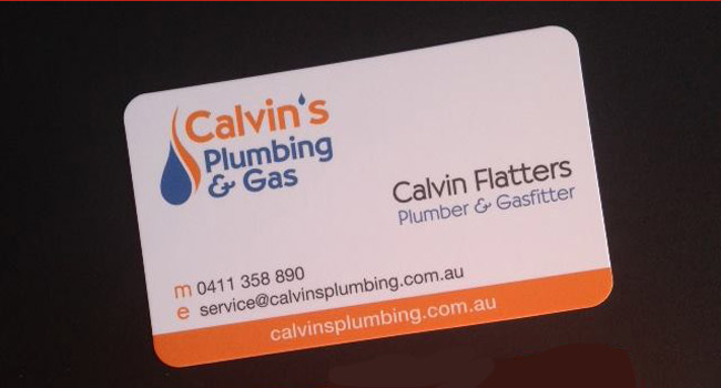 Calvin's Plumbing and Gas – New Business