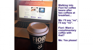 It's hard to say no to a free FiORi coffee Image