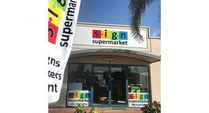 Sign Supermarket Image