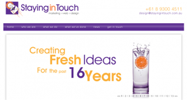 Staying in Touch's new website launched at BNI Image