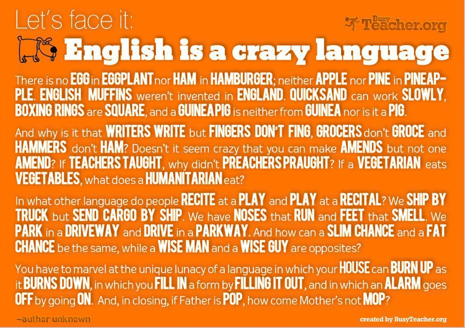 English is a crazy language Image