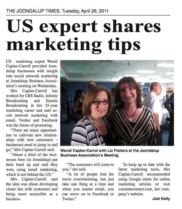 US expert shares marketing tips Image