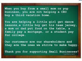 Thank you for supporting small businesses Image
