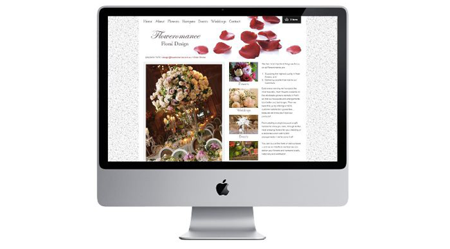 Beautiful New website for Floweromance Image