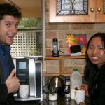 Some of our team - Ryan, Web Developer and Sheryl, Graphic Designer taking care of tea and coffee orders. Yum!