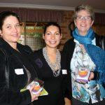 Nikki Hughes and Glenda Hymus of Guildford Landing Function Centre with Amy De La Rosa (centre) of De La Rosa Cupcakes.