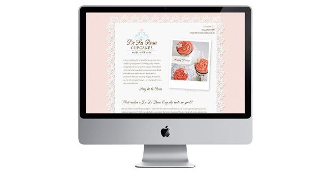 New website for De La Rosa Cupcakes Image