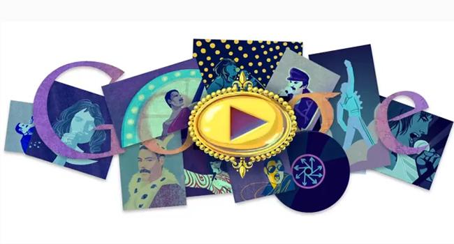 Google Doodle celebrates Freddie Mercury's Birthday Image