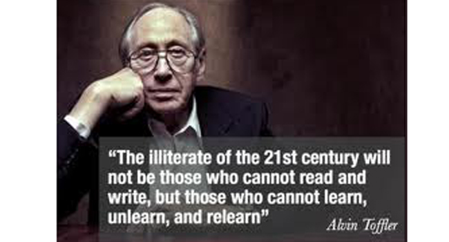 Words of Wisdom – from Alvin Toffler Image