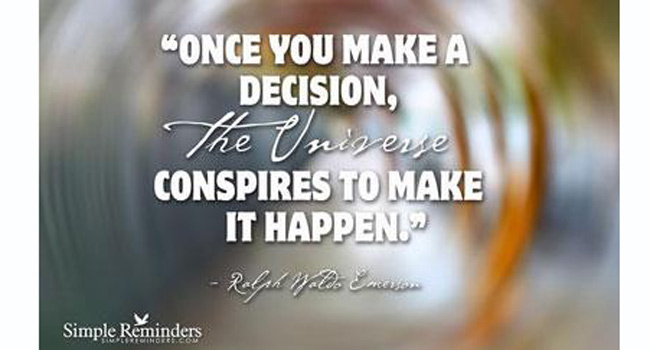 Once you make a decision… Image