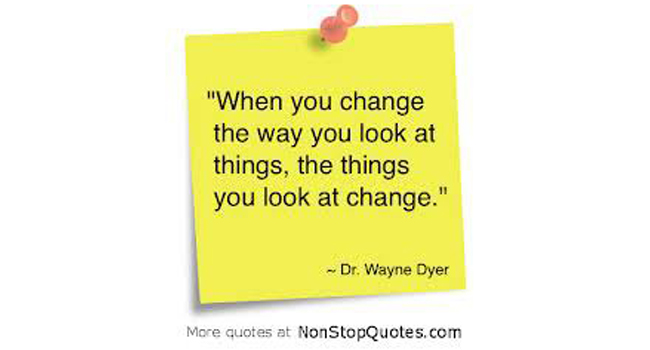 How will you look at things today? Image