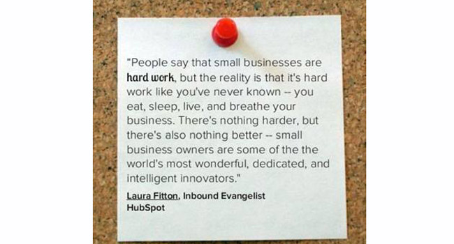 Is this how you feel about being in your small business? Image