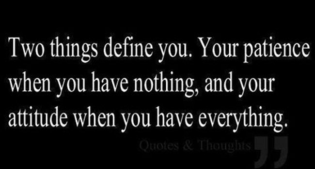 Two things define you Image