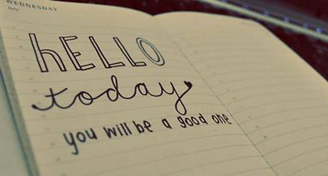 Hello today – you will be a good one. Image