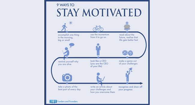 9 Ways to Stay Motivated Image