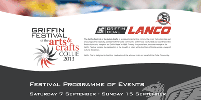 "On our way to the opening of the 2013 ""Griffin Festival of the Arts & Crafts"" in Collie Image"