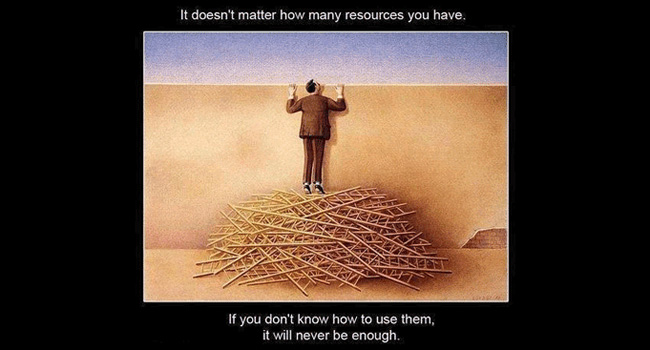It doesn't matter how many resources you have Image