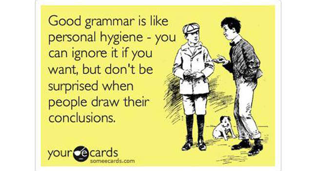 Do grammar and spelling matter any more? Image