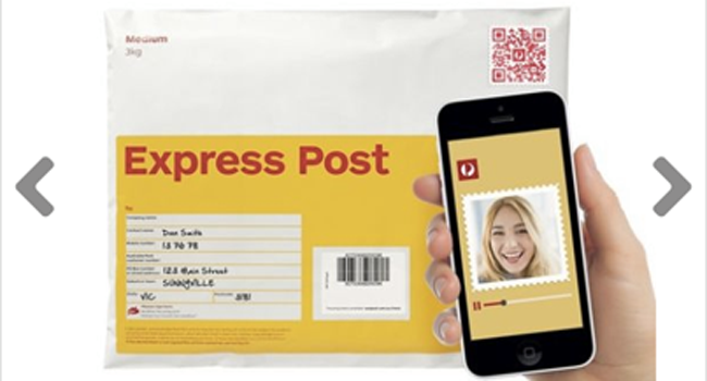 Now you can send a video message with your parcel! Image