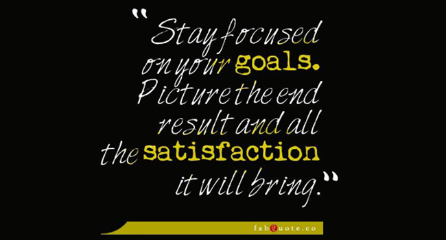 Stay focused on your goals Image