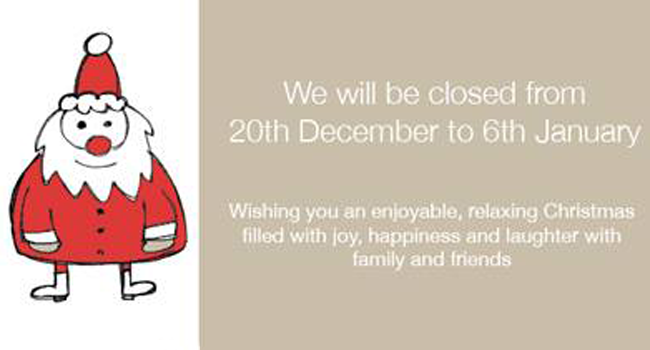 Let your customers know your Christmas trading hours! Image