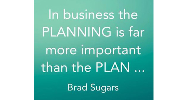 Planning is far more important then the Plan Image