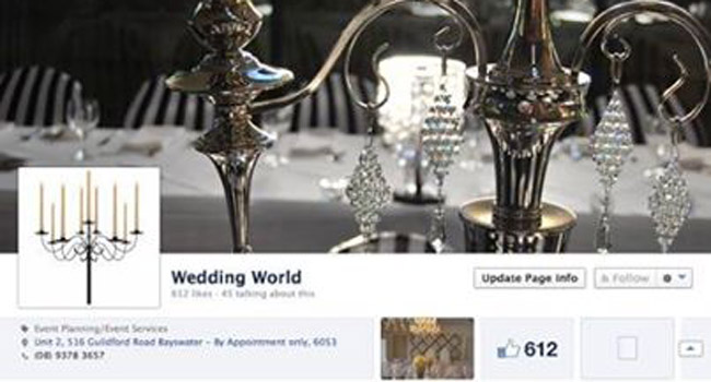 New website for Wedding World Image