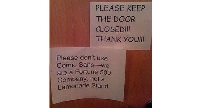Can Comic Sans be saved? Image