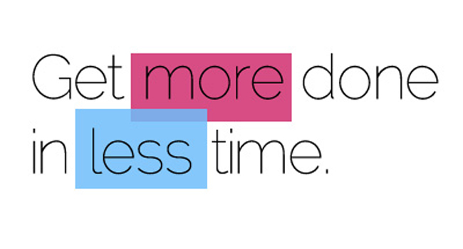 What's your top tip for getting more done in less time? Image