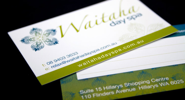 Business Cards for Waitaha Day Spa Image