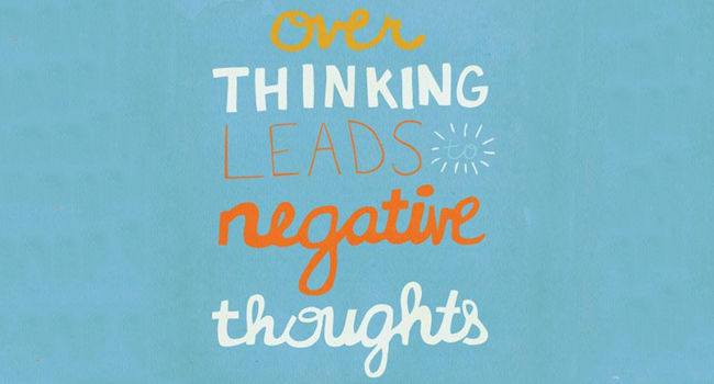 Over thinking leads to negative thoughts Image