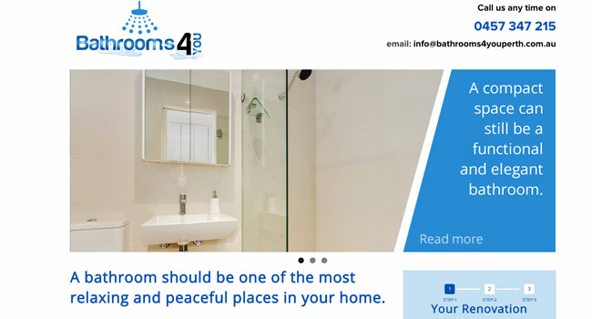 Bathrooms4You website Image