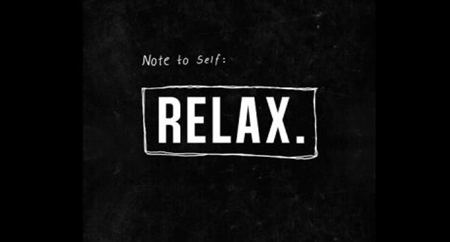 Note to self: Relax Image