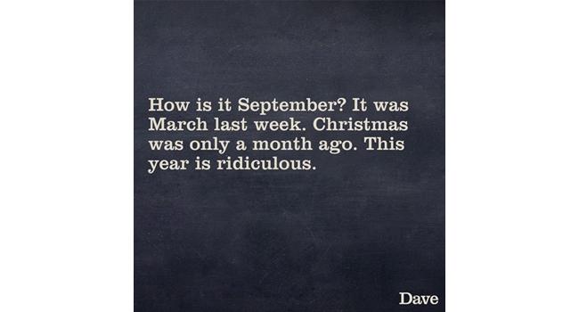 September already? Image