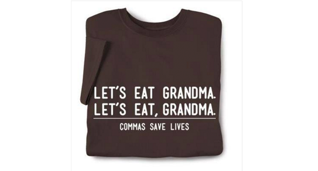 Commas save lives Image