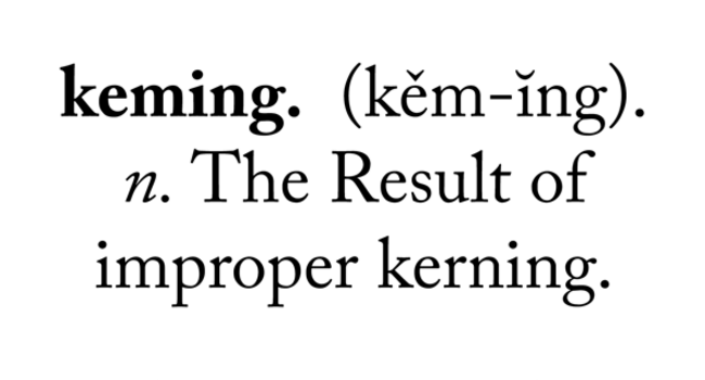 Keming. Know what it means? Image