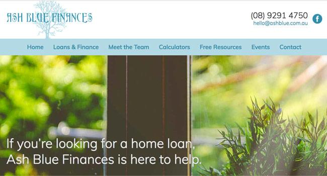 Ash Blue Finances website Image
