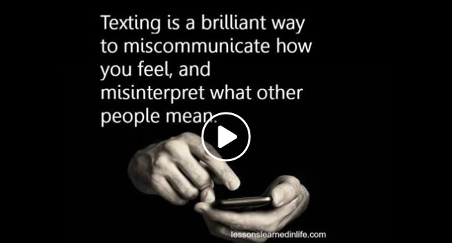 Lessons Learned in Life: Texting Image