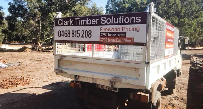 Clark Timber Solutions truck signage