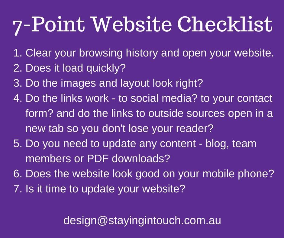 7-Point Website Checklist