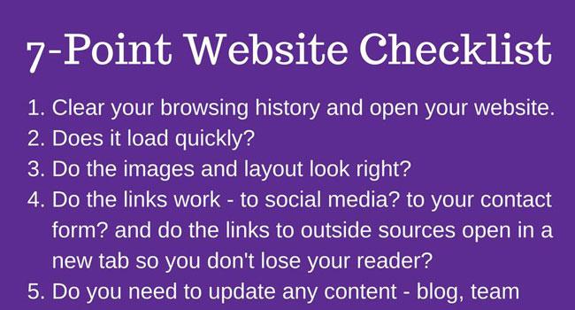7-Point Website Checklist Image