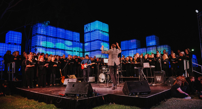 Incredible performance by the Community Choir at the 2019 Joondalup Festival Image