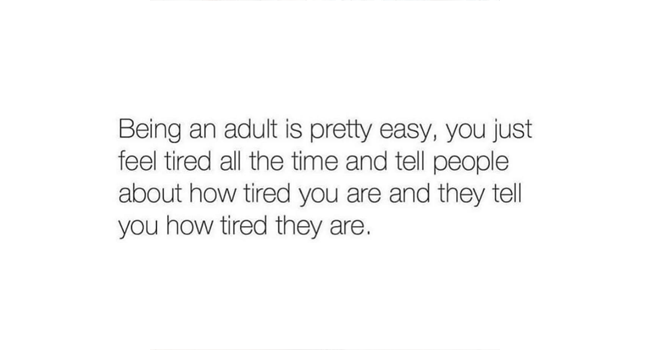 Being an adult is pretty easy… Image