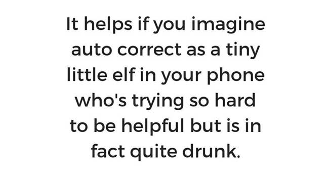 The auto-correct elf in your phone Image