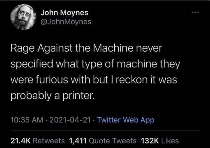 Rage Against the….printer? Image
